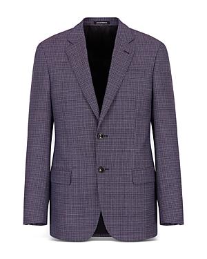 Dark Orchid Textured Suit Jacket
