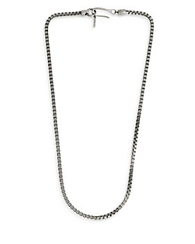 """ALLSAINTS - Sterling Silver Box Chain Necklace, 18"""""""