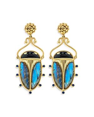 Scarab Berry Drop Earrings