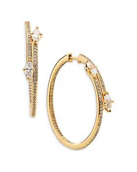 Nadri - Leah Large Bypass Hoop Earrings