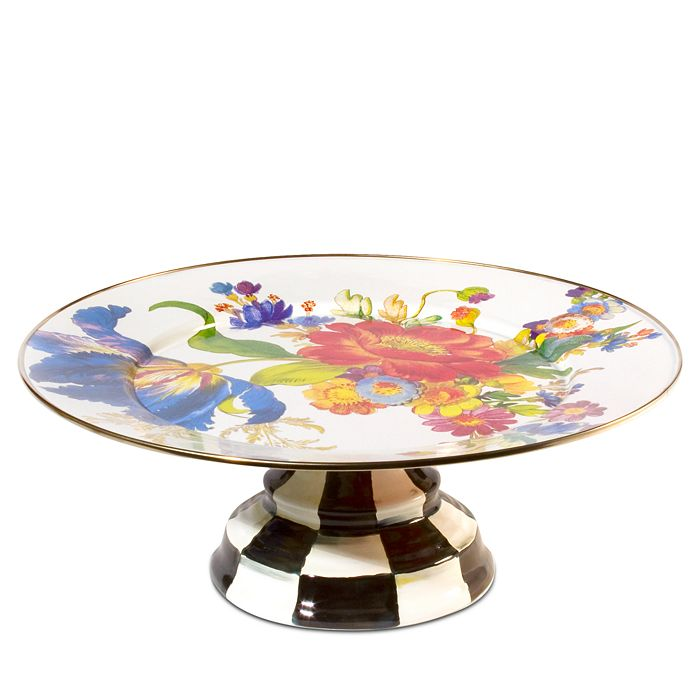 Mackenzie-Childs - Flower Market Pedestal Platter