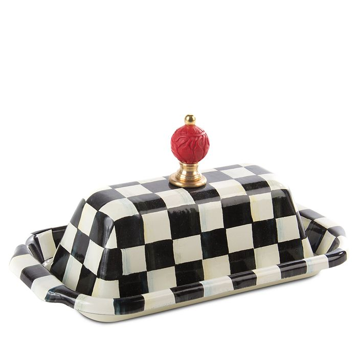 Mackenzie-Childs - Courtly Check Butter Box