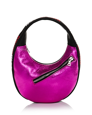 Egg Mini Metallic Leather Shoulder Bag