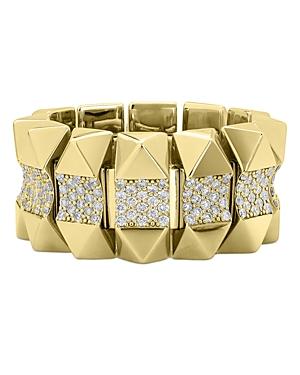 Roberto Coin 18K Yellow Gold Obelisco Diamond Ring