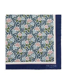 Ted Baker - Interest Floral Silk Pocket Square