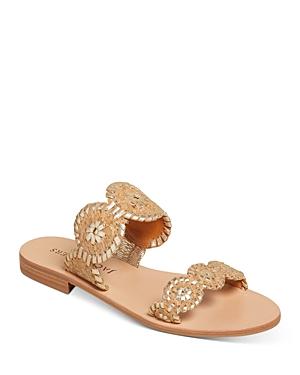 Women's Lauren Cork & Leather Slide Sandals
