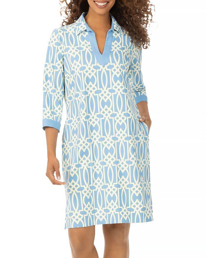 Foxcroft ANGEL GEO PRINT DRESS