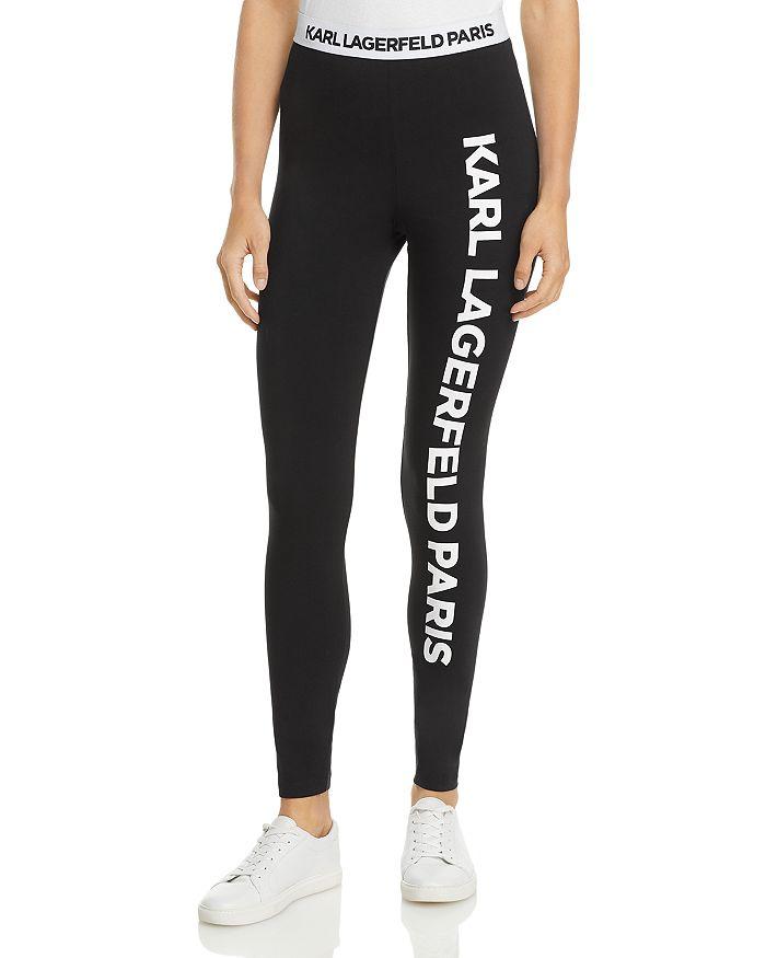 Karl Lagerfeld Klp Logo Leggings In Black
