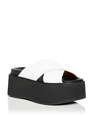 Marni Women\\\'s Crisscross Platform Slide Sandals