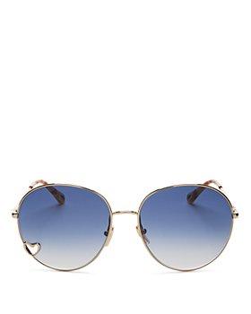 Chloé - Women's Round Sunglasses, 61mm