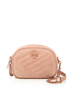 Tory Burch - Kira Small Quilted Suede Camera Crossbody