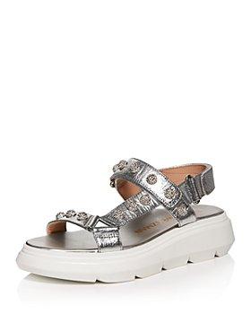 Stuart Weitzman - Women's Zoelie Crystal Ball Embellished Sneaker Sandals