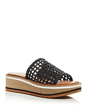 Clergerie - Women's Fausta Woven Platform Slide Sandals