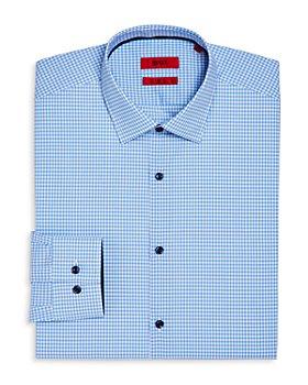 HUGO - Cotton Gingham Check Slim Fit Dress Shirt