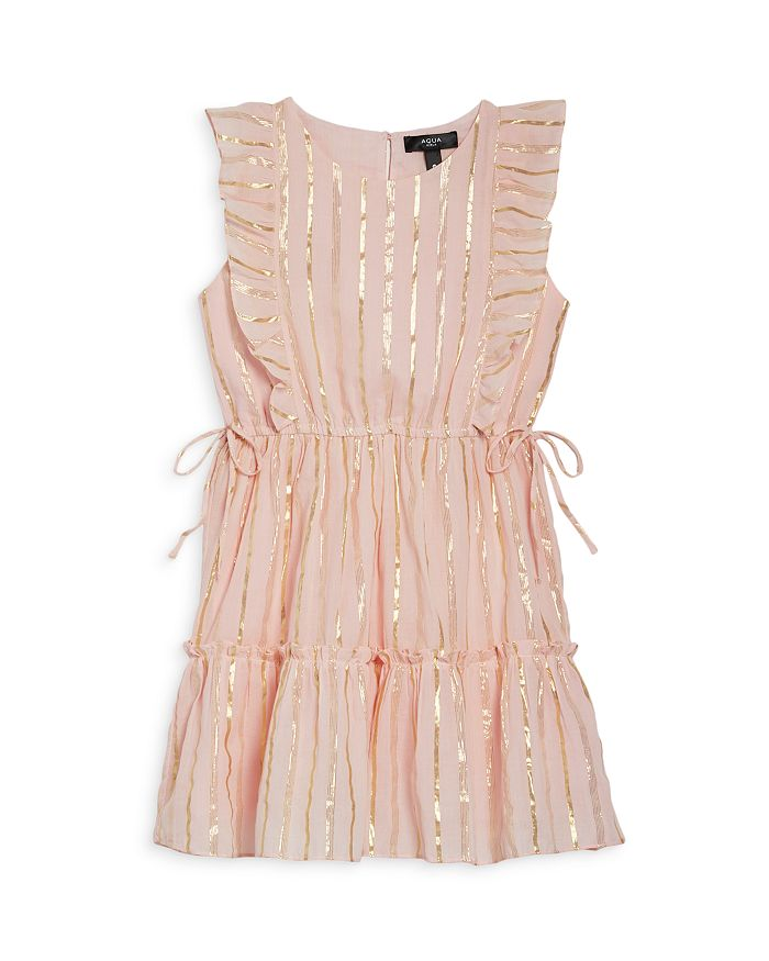 AQUA - Girls' Metallic Sleeveless Dress, Big Kid - 100% Exclusive