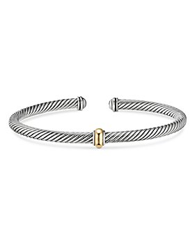 David Yurman - Sterling Silver & 18K Yellow Gold Cable Classics Cuff Bracelet