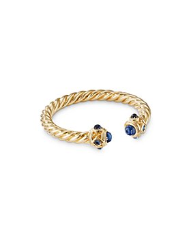 David Yurman - 18K Yellow Gold Renaissance Blue Sapphire Ring