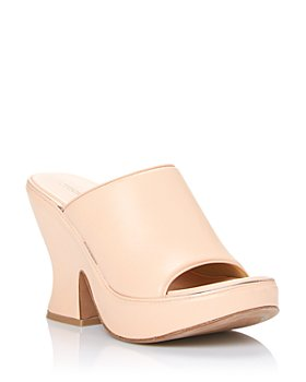Bottega Veneta - Women's Wedge Leather Platform Sandals