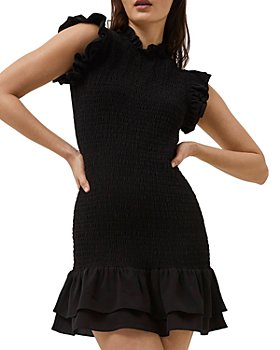 FRENCH CONNECTION - Ruffled Smocked Mini Dress