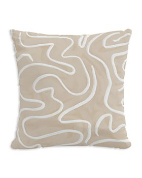 "Sparrow & Wren - Outdoor Pillow in Spiral, 18"" x 18"""