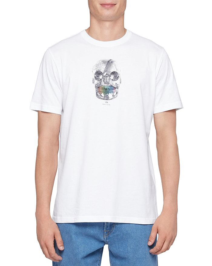 Ps By Paul Smith Cottons RAINBOW SKULL GRAPHIC TEE