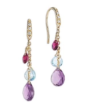 Marco Bicego 18K Yellow Gold Paradise Mixed Gemstone Drop Earrings