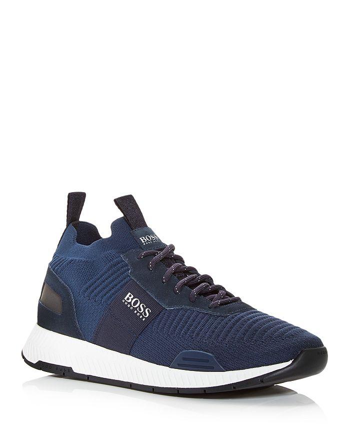 BOSS - Men's Titanium Knit Low Top Sneakers