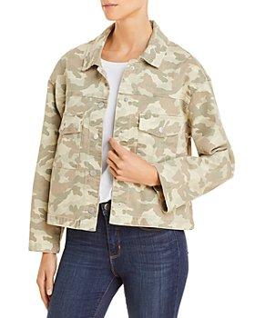 AQUA - Camo Cropped Denim Jacket - 100% Exclusive