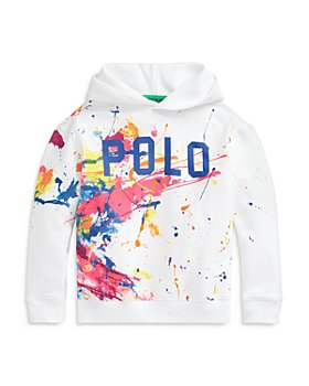 Ralph Lauren - Girls' Paint Splatter Logo Hoodie - Little Kid, Big Kid