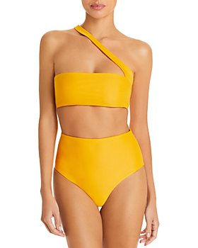 Jade Swim - Halo Asymmetric Bikini Top & Bound High Waist Bikini Bottom