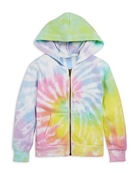 Vintage Havana - Girls Zip Up Tie Dye Hoodie - Little Kid, Big Kid