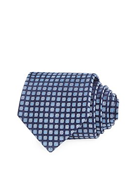 The Men's Store at Bloomingdale's - Floral Medallion Grid Silk Classic Tie - 100% Exclusive