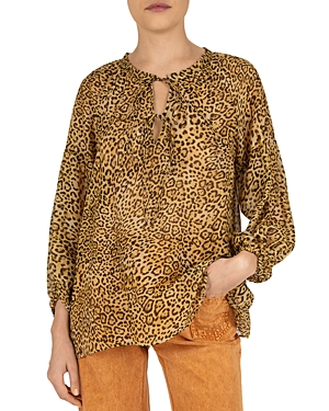 Nirupa Leopard Print Blouse