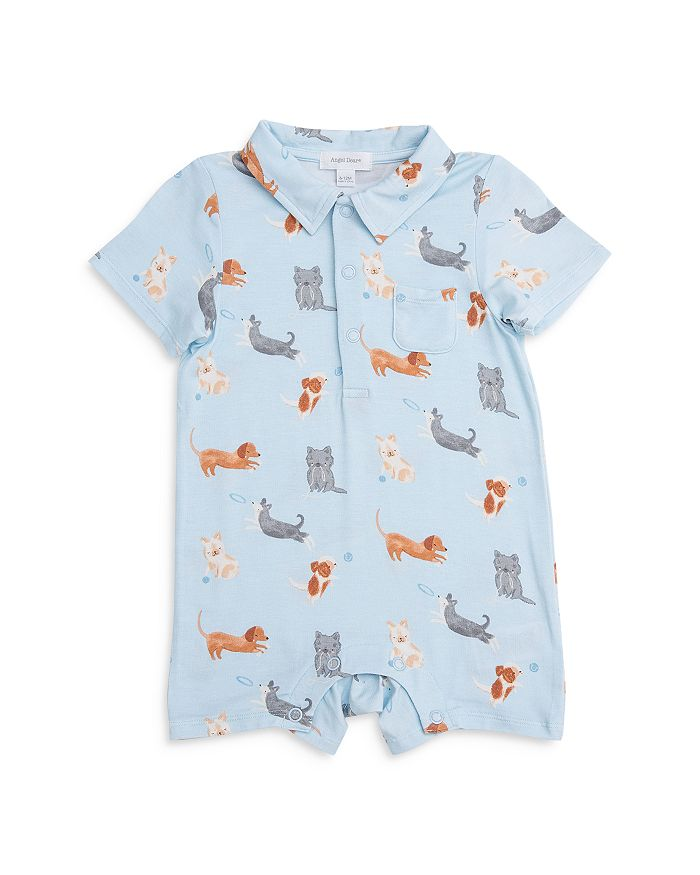 ANGEL DEAR Bodysuits BOYS' PUPPY POLO SHORTIE - BABY