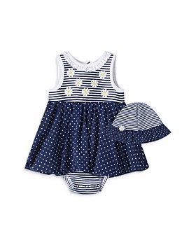 Little Me - Girls' Daisy Popover Dress & Hat Set - Baby