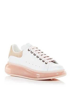 Alexander McQUEEN Oversized Suede Heel & Transparent Sole Sneakers