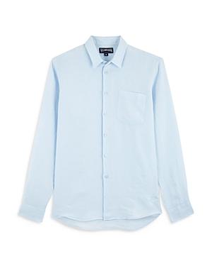 Vilebrequin Linen Solid Classic Fit Shirt