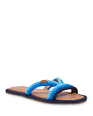 kate spade new york Women's Captains Cord Square Toe Twisted Rope Slide Sandals