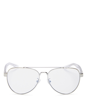 Tory Burch Women's Brow Bar Aviator Blue Light Glasses, 55mm