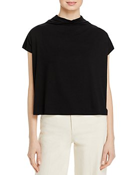 Eileen Fisher - Funnel Neck Cropped Top - 100% Exclusive