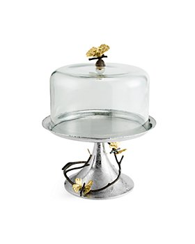 Michael Aram - Butterfly Ginkgo Pastry Dish with Dome