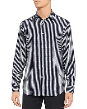 Theory - Noll Vestal Print Regular Fit Button Down Shirt