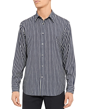 Theory Noll Vestal Print Regular Fit Button Down Shirt