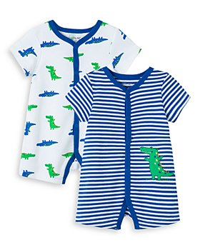 Little Me - Boys' Cotton Gator Rompers, Set of 2 - Baby