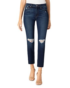 Joe's Jeans - Distressed Straight Ankle Jeans in Alhambra
