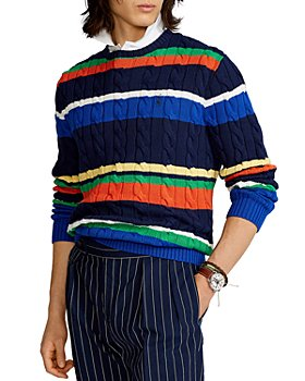 Polo Ralph Lauren - Striped Cotton Cable Knit Sweater