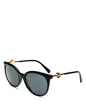 Versace Women's Round Sunglasses, 55mm In Black/ Dark Gray