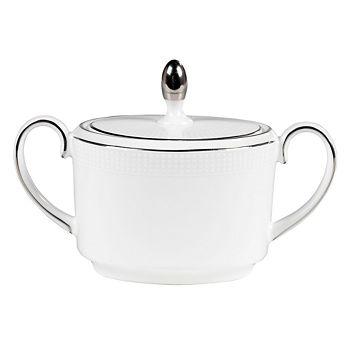 """Vera Wang - for Wedgwood """"Blanc Sur Blanc"""" Sugar Bowl"""