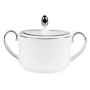 Vera Wang Wedgwood Blanc Sur Blanc Sugar Bowl