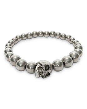 Alexander McQUEEN - Skull & Bead Stretch Bracelet